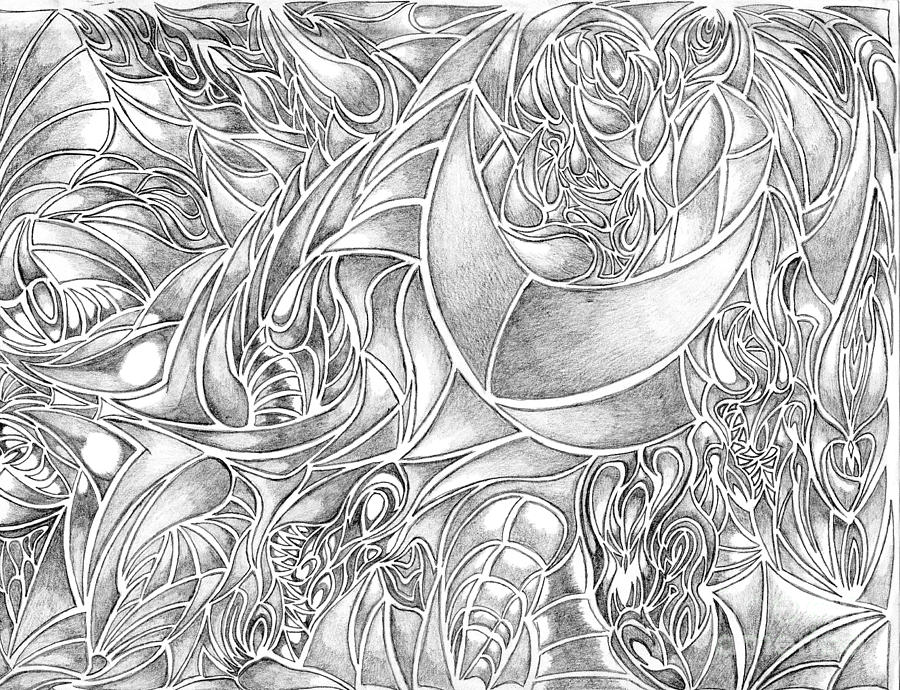 Abstract drawing abstract drawing in pencil what do you see series by minding my visions