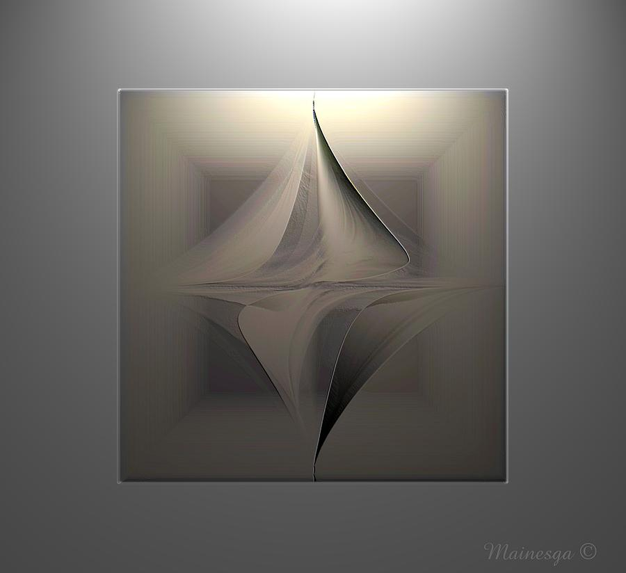 Digital Paint Digital Art - Abstract Duet by Ines Garay-Colomba
