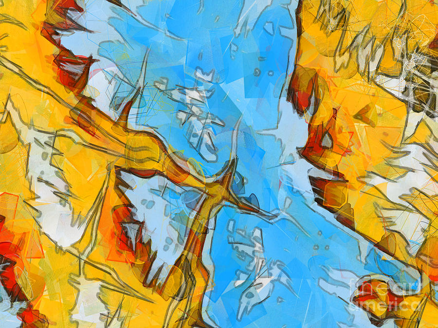 Abstract Painting - Abstract Elements  by Pixel Chimp