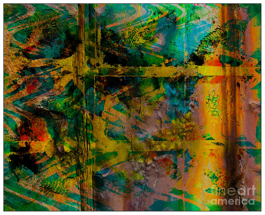 Front Digital Art - Abstract - Emotion - Facade by Barbara Griffin