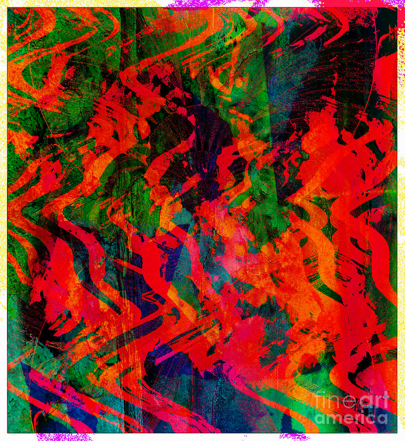 Rage Digital Art - Abstract - Emotion - Rage by Barbara Griffin