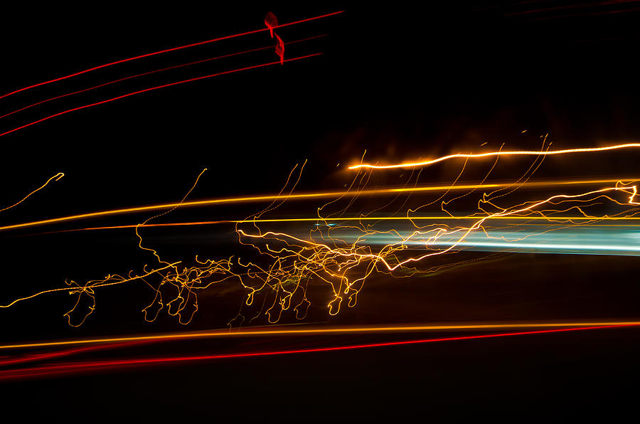 Abstract Photograph - Abstract Evening Lights 1 by Chase Taylor