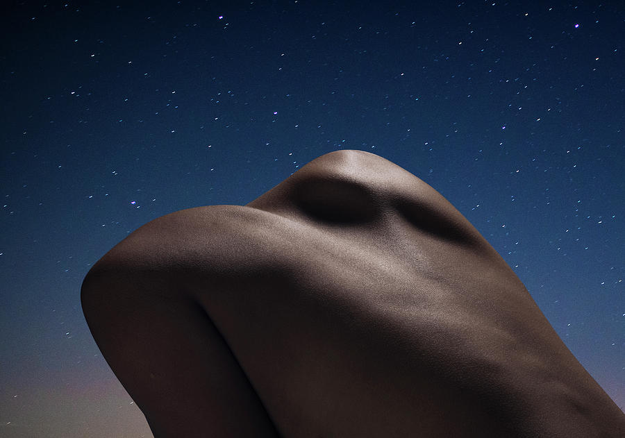 Abstract Female Back At Night Photograph by Jonathan Knowles