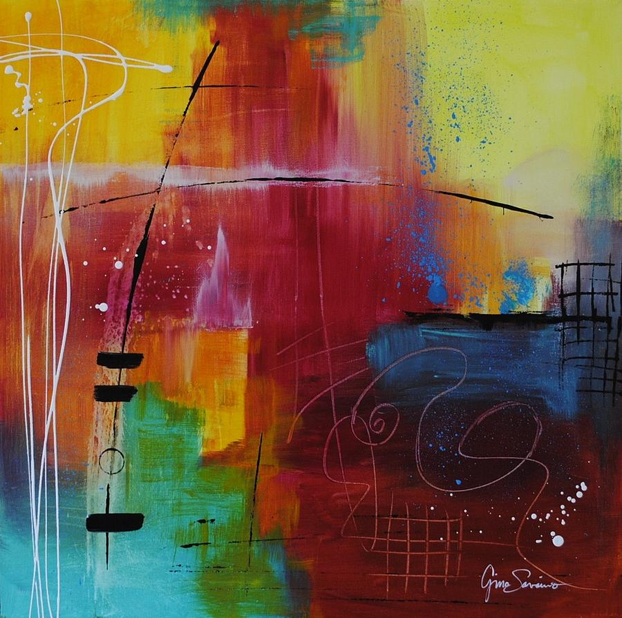 Vibrant Painting - Abstract Fire by Gino Savarino