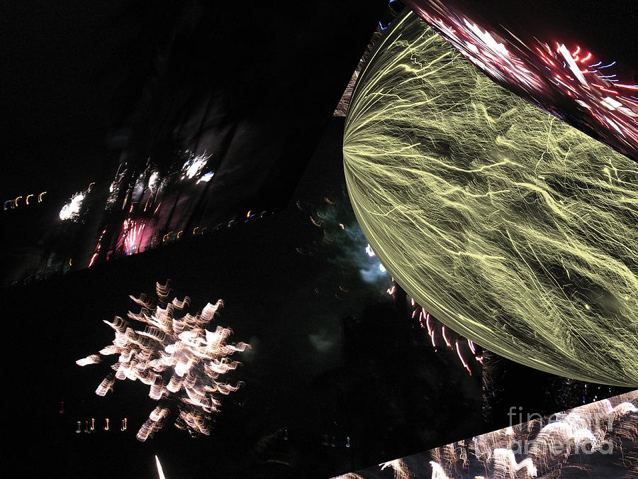 Abstract Firework - Ile De La Reunion - Reunion Island - Indian Ocean Photograph by Francoise Leandre