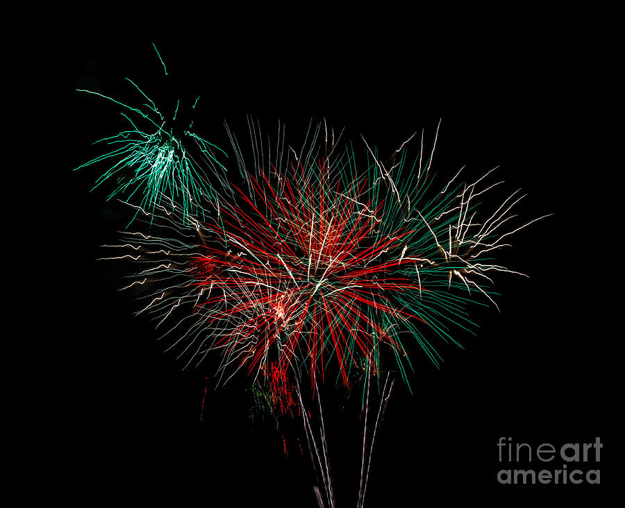 Fireworks Photograph - Abstract Fireworks by Robert Bales