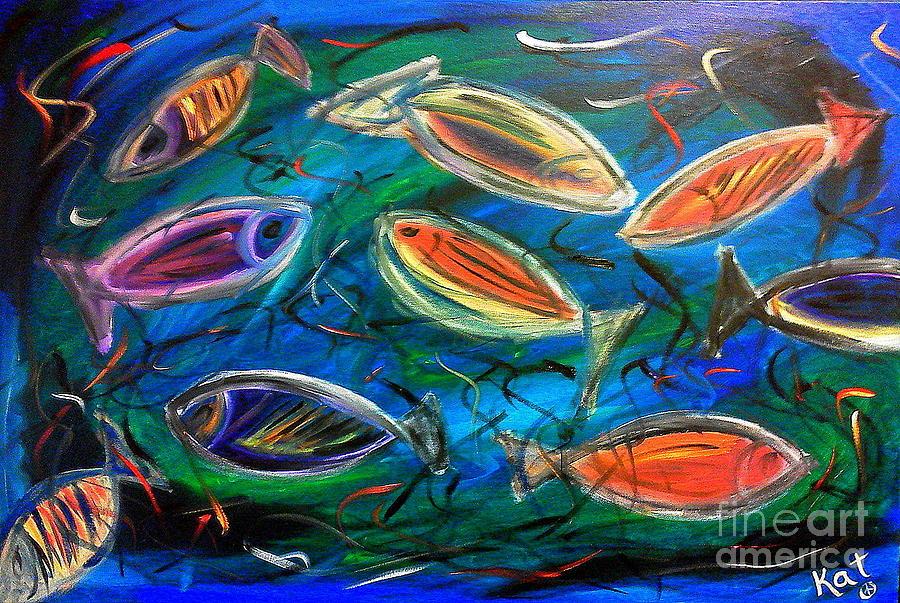 Fish Painting Abstract Art