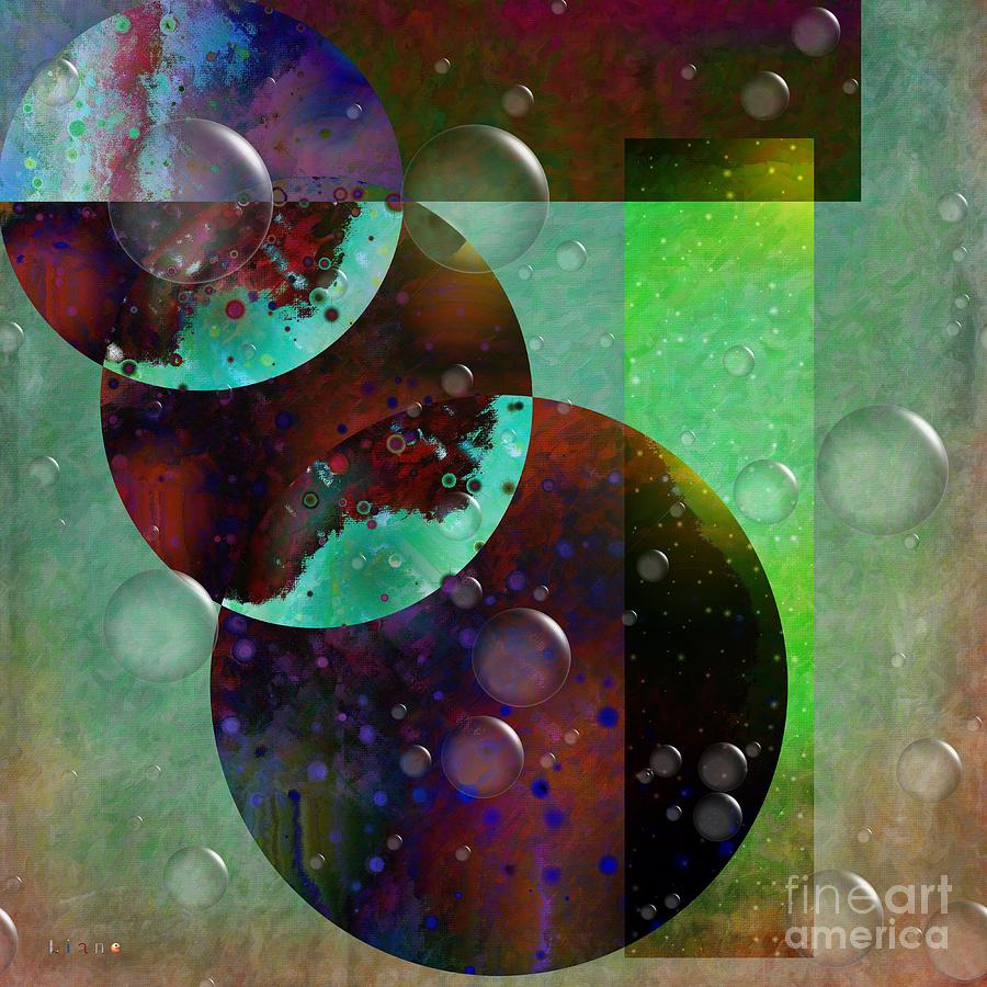 Abstract - Floaters Digital Art - Abstract - Floaters by Liane Wright