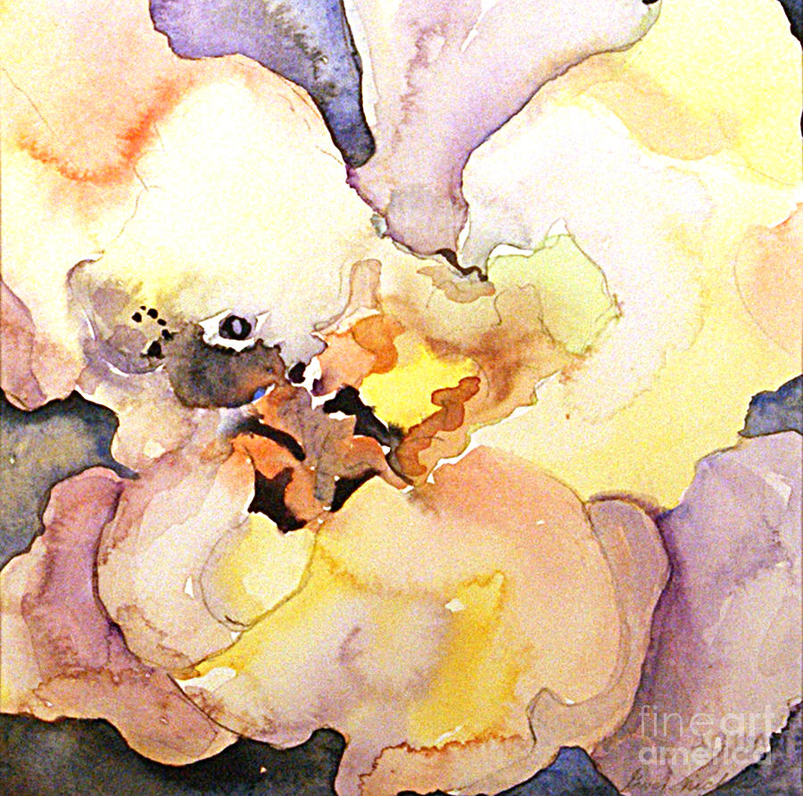 Watercolor Painting - Abstract Flower 8 by Gwen Nichols