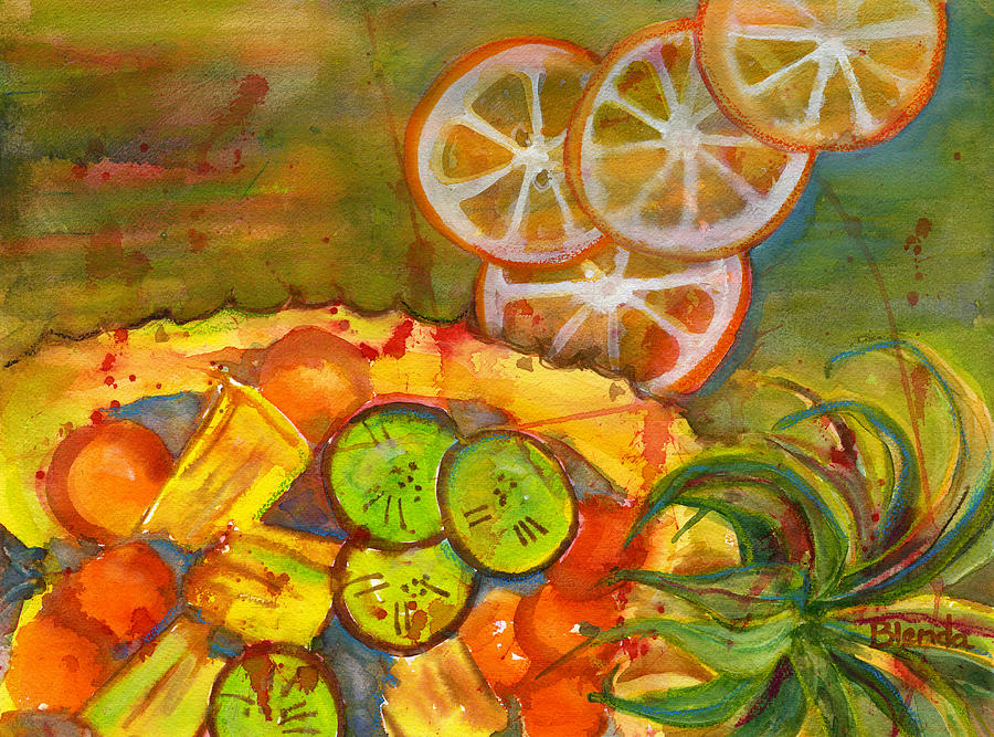 Modern Painting - Abstract Food Kitchen Art by Blenda Studio