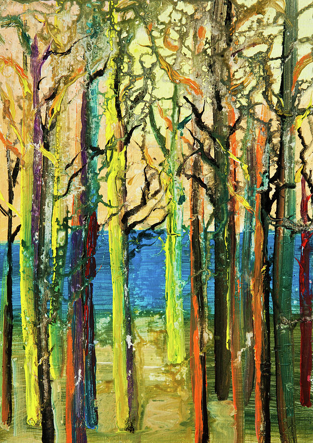 Abstract Forest Digital Art by Balticboy
