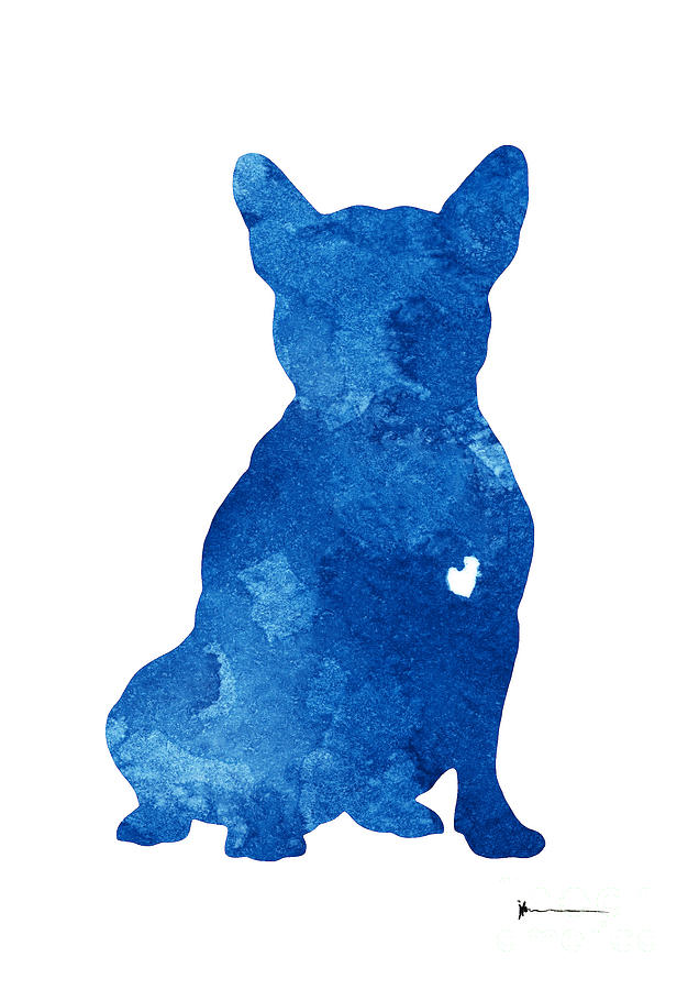 Abstract French Bulldog Silhouette Artwork Painting By