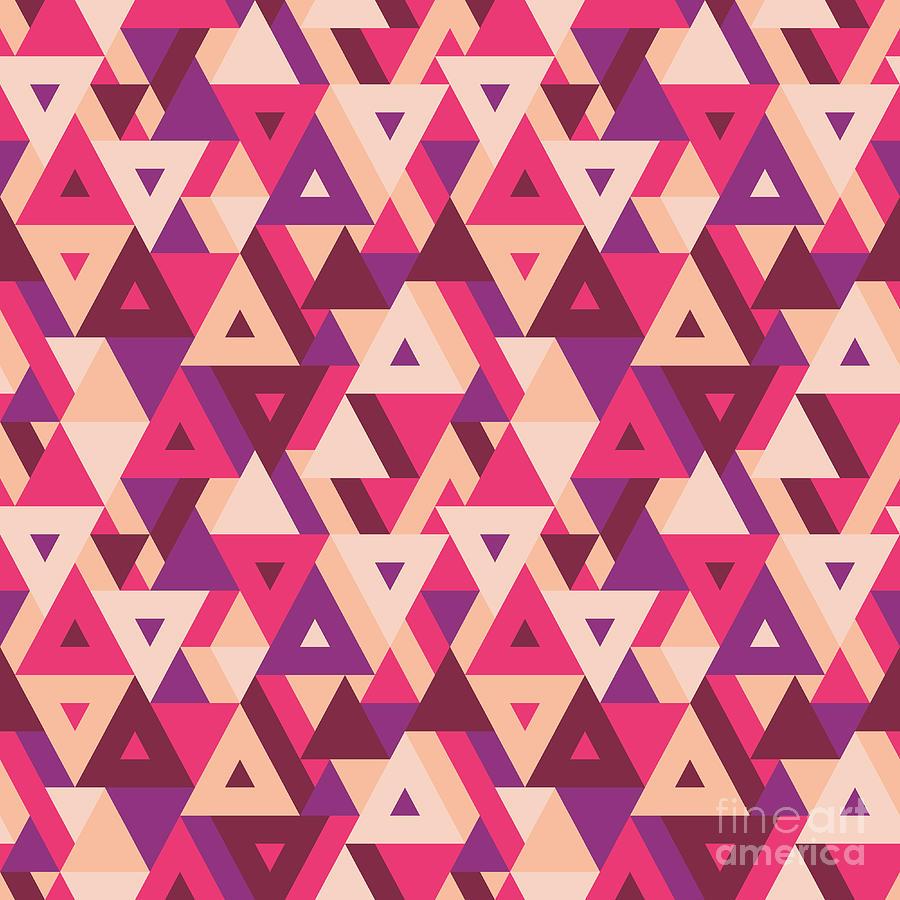 Trend Digital Art - Abstract Geometric Background - by Sergey Korkin