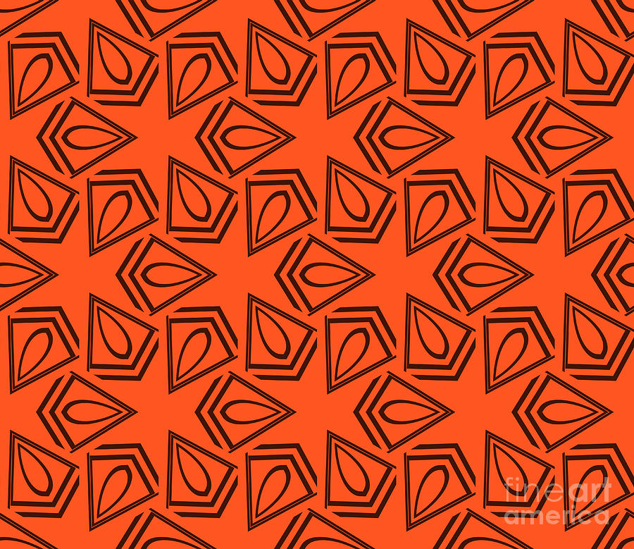 Paint Digital Art - Abstract Geometric Seamless Pattern by Alexander Rakov