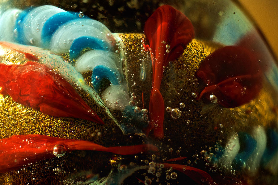 Gold Photograph - Abstract Glass by Jess Kraft