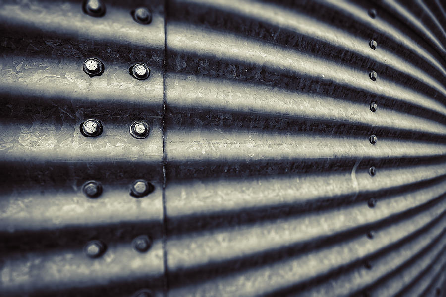 Grain Photograph - Abstract Grain Silo by Thomas Zimmerman