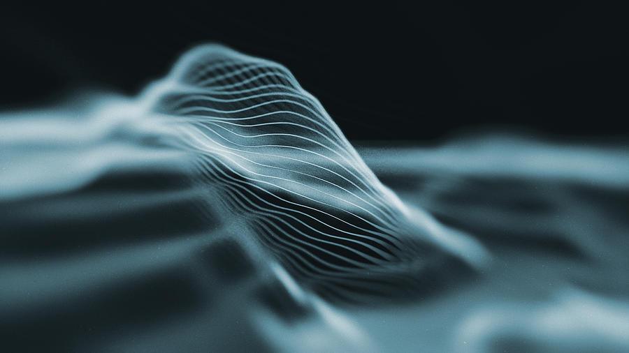 Abstract Hologram Landscape background Photograph by Koto_feja
