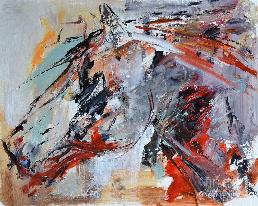 Horse Painting - Abstract Horse 1 by Cher Devereaux
