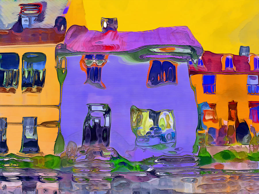 Abstract Houses Digital Art - Abstract Houses by Nina Bradica