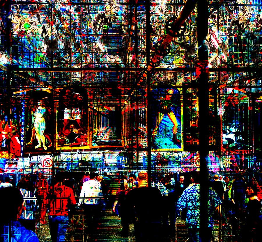 Abstract Digital Art - Abstract Humanity by Mary Clanahan