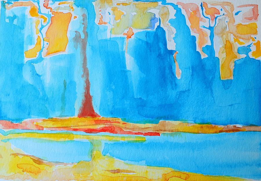 Abstract Watercolor Painting - Abstract II by Patricia Awapara