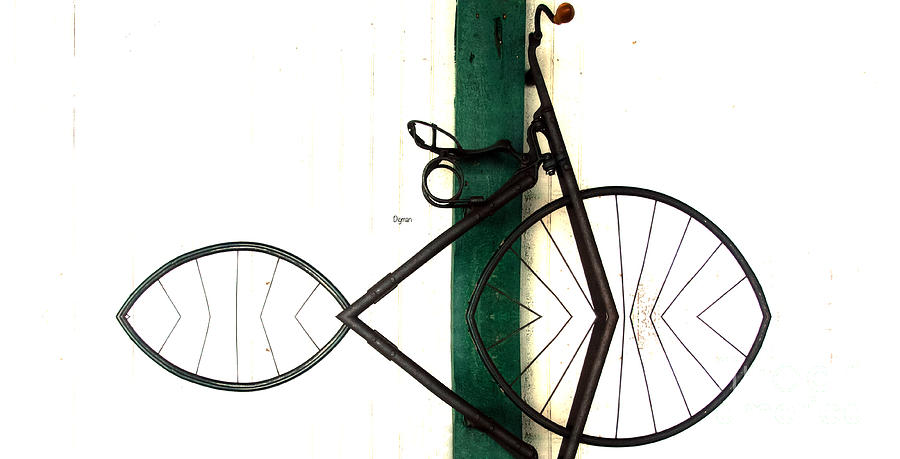 Bicycle Photograph - Abstract In Geometric Velocipede  by Steven Digman