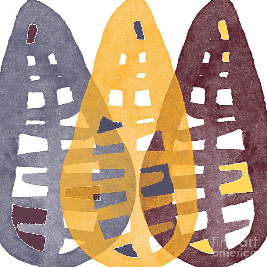 Corn Painting - Abstract Indian Corn by Linda Woods