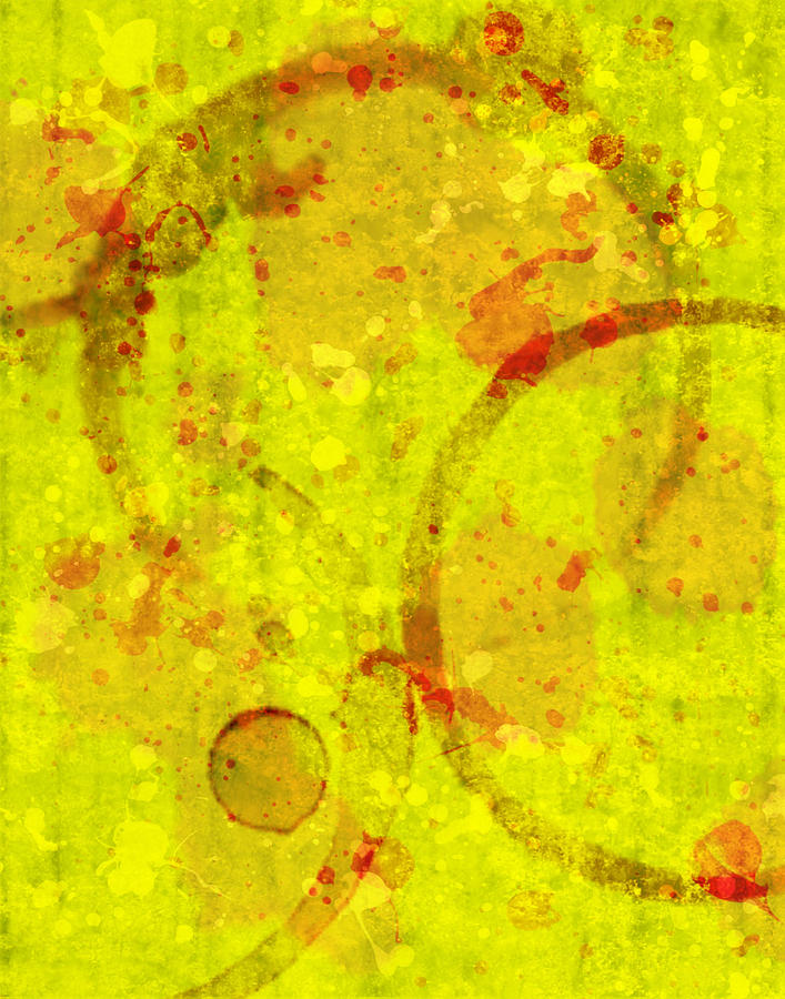 Abstract Digital Art - Abstract Ink And Water Stains by Lisa Noneman