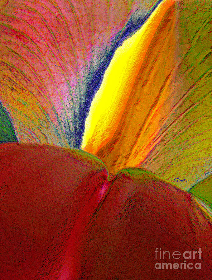Abstract Photograph - Abstract Iris 2 by Linda  Parker