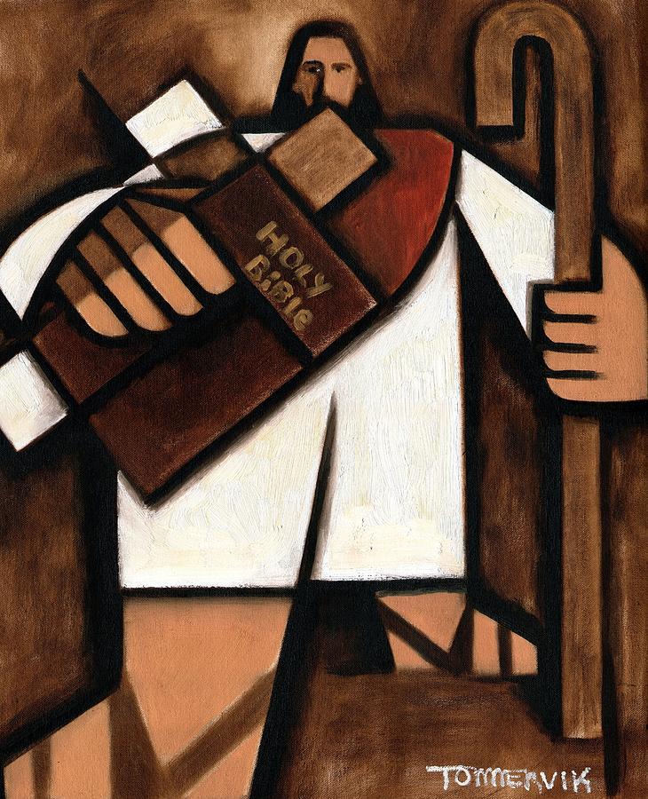 Tommervik Painting -  Tommervik Abstract Jesus Art Print by Tommervik