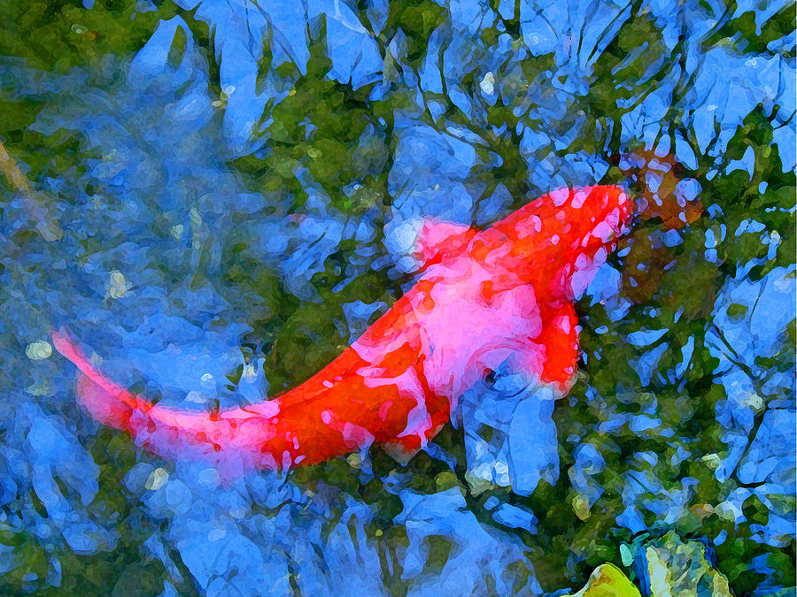 Abstract Koi 4 Painting