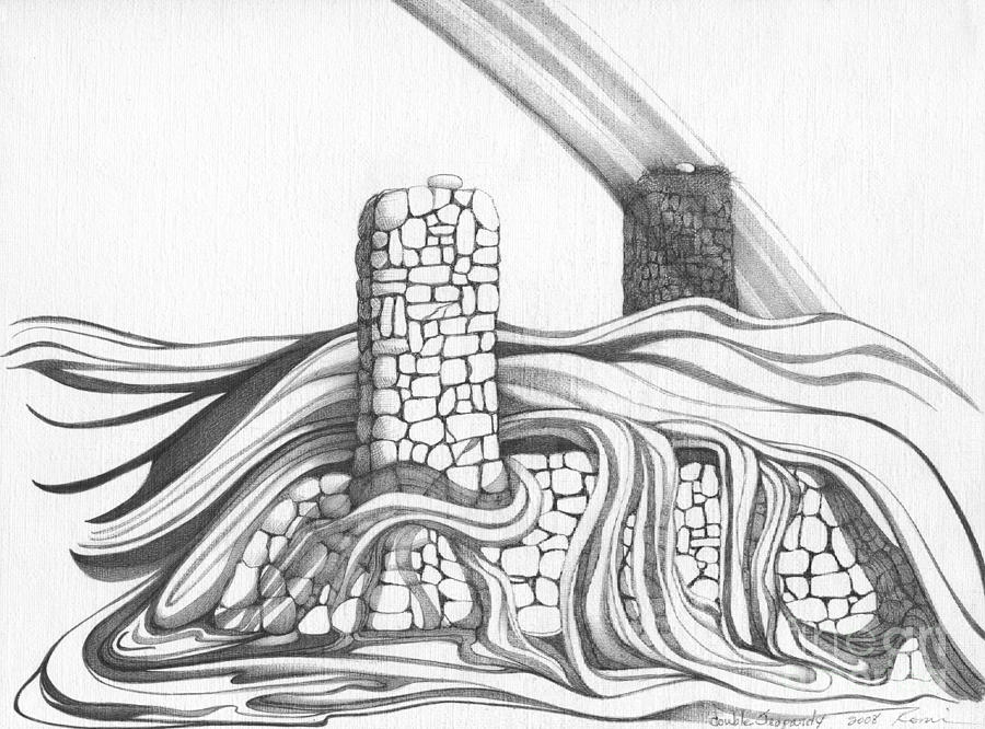 underground drawing abstract landscape art black and white home double jeopardy by romi by megan