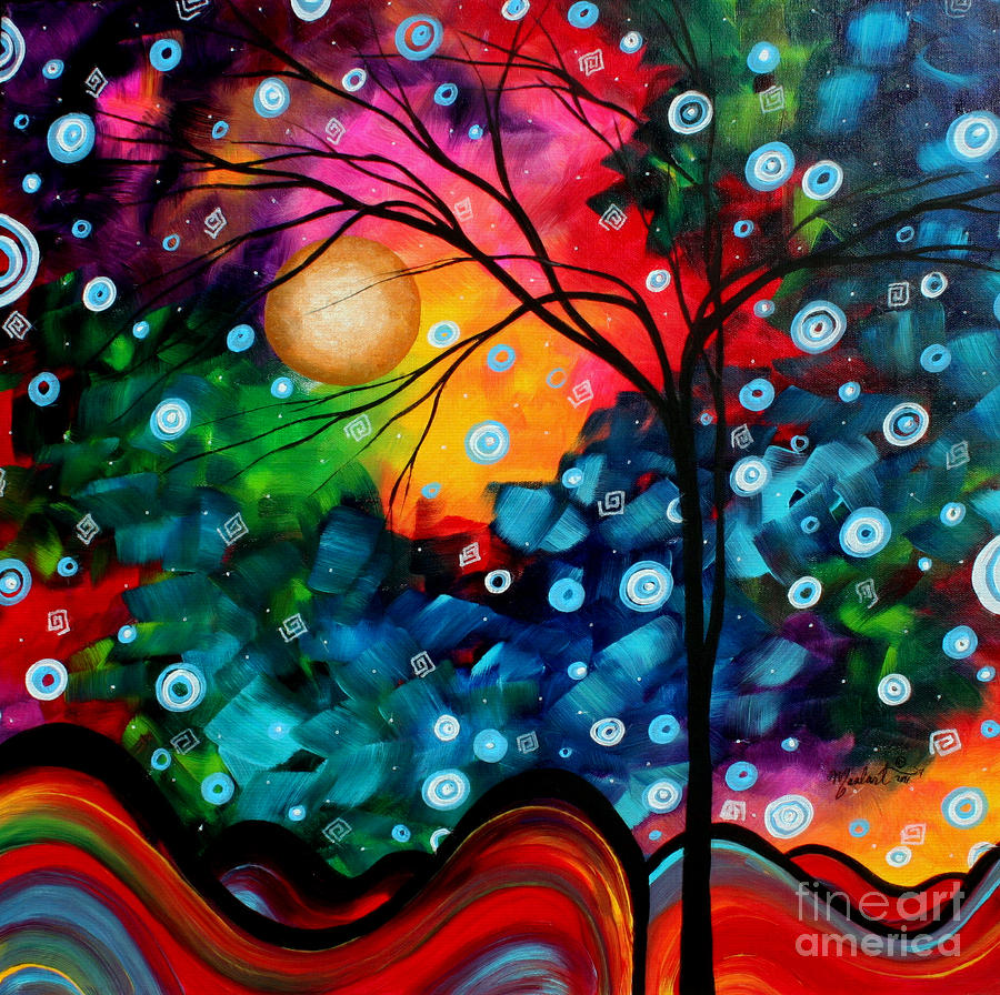 Abstract Landscape Colorful Contemporary Painting By Megan Duncanson