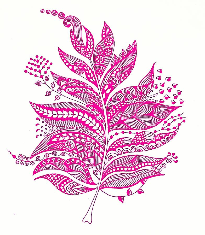 Abstract Leaf Painting