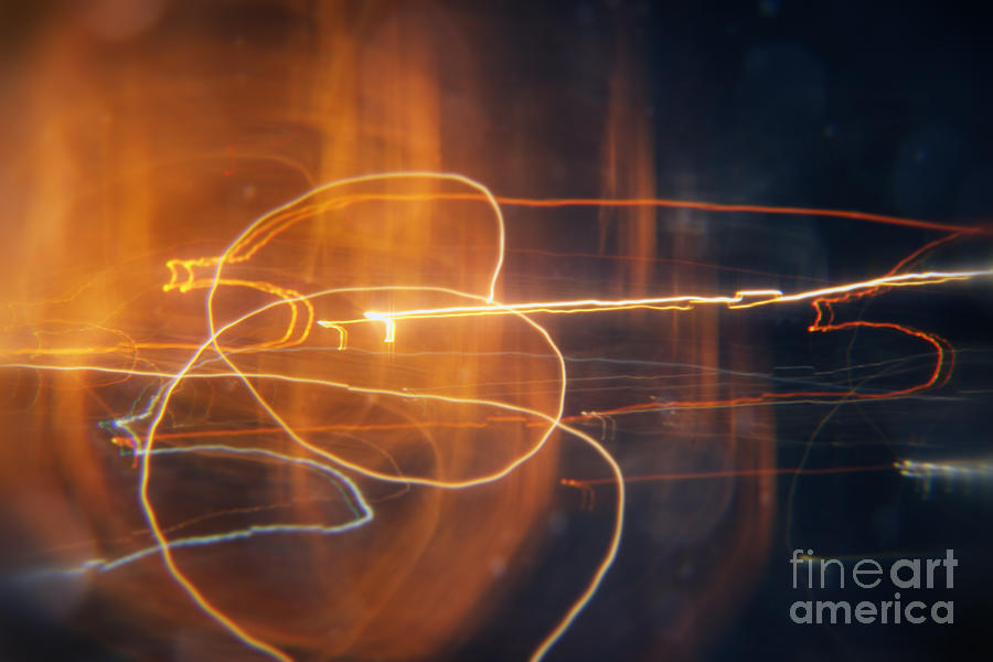 Circles Painting - Abstract Light Streaks by Pixel Chimp