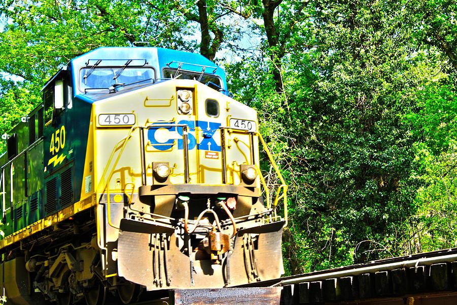 Locomotive Photograph - Abstract Loco by JB Stran