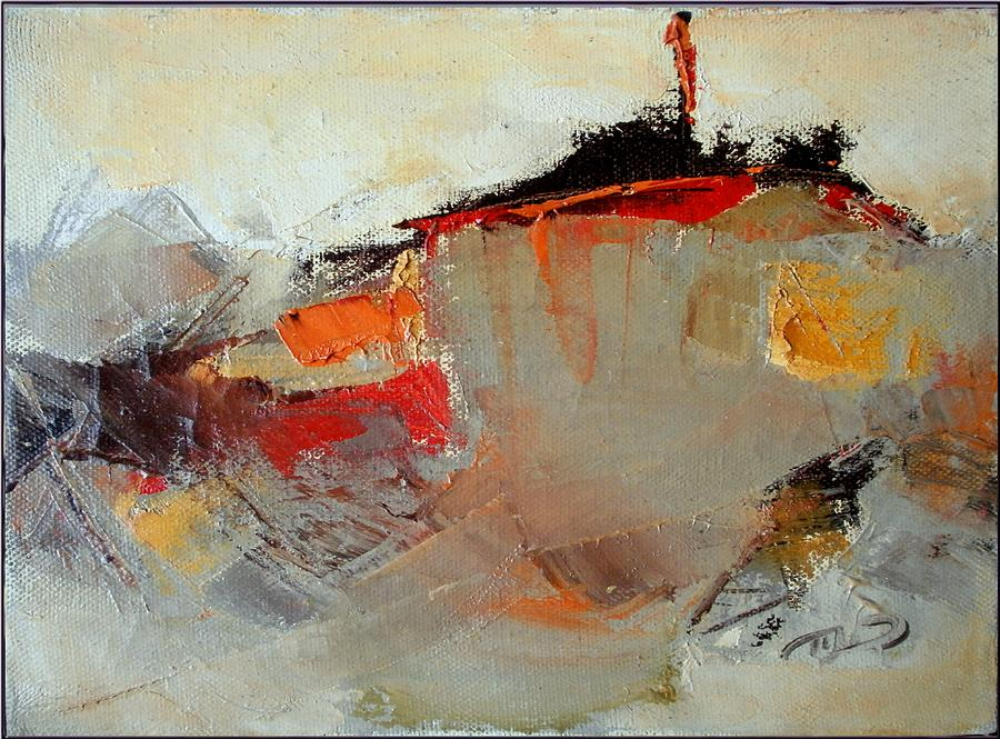 Abstract Landscape Painting - Abstract Lsndscape by  Pemaro