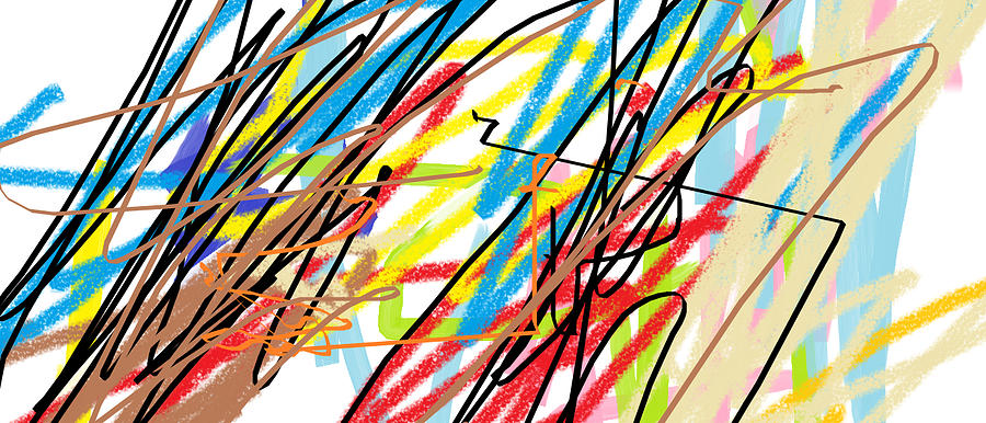 Young Artists Digital Art - Abstract - Made By Matilde 4 Years Old by Giuseppe Epifani