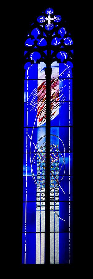 Abstract Modern Stained Glass Window by Georgia Mizuleva
