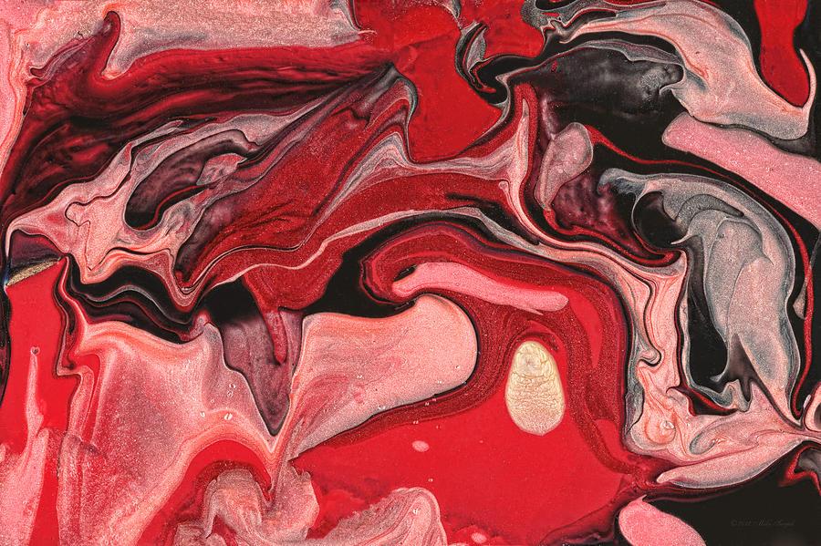 Abstract Painting - Abstract - Nail Polish - Raspberry Nebula by Mike Savad
