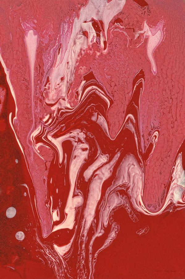 Abstract Painting - Abstract - Nail Polish - Tongue by Mike Savad