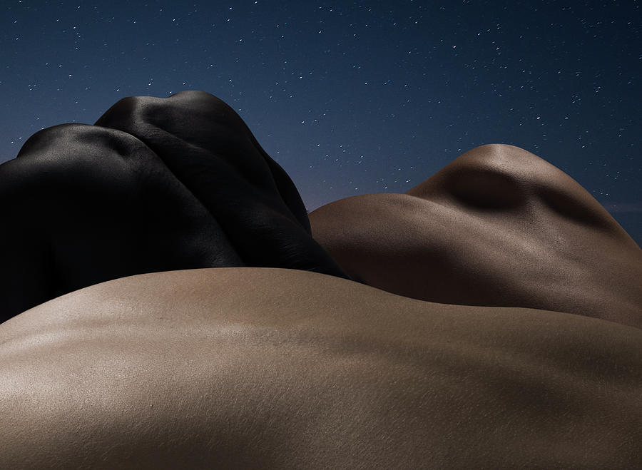 Abstract Nude Bodies, Different Colours Photograph by Jonathan Knowles