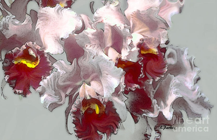 Abstract Photograph - Abstract Orchid by Linda  Parker