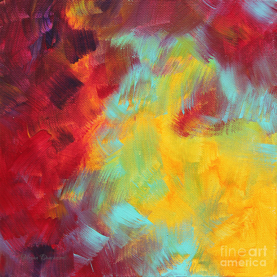 Abstract Original Painting Colorful Vivid Art Colors Of Glory I By ...