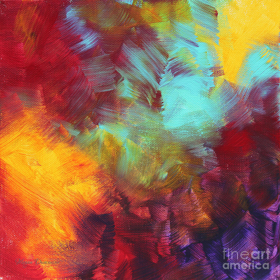 Abstract Original Painting Colorful Vivid Art Colors Of