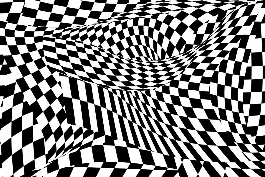 Checkers Photograph - Abstract - Ow My Eyes by Mike Savad
