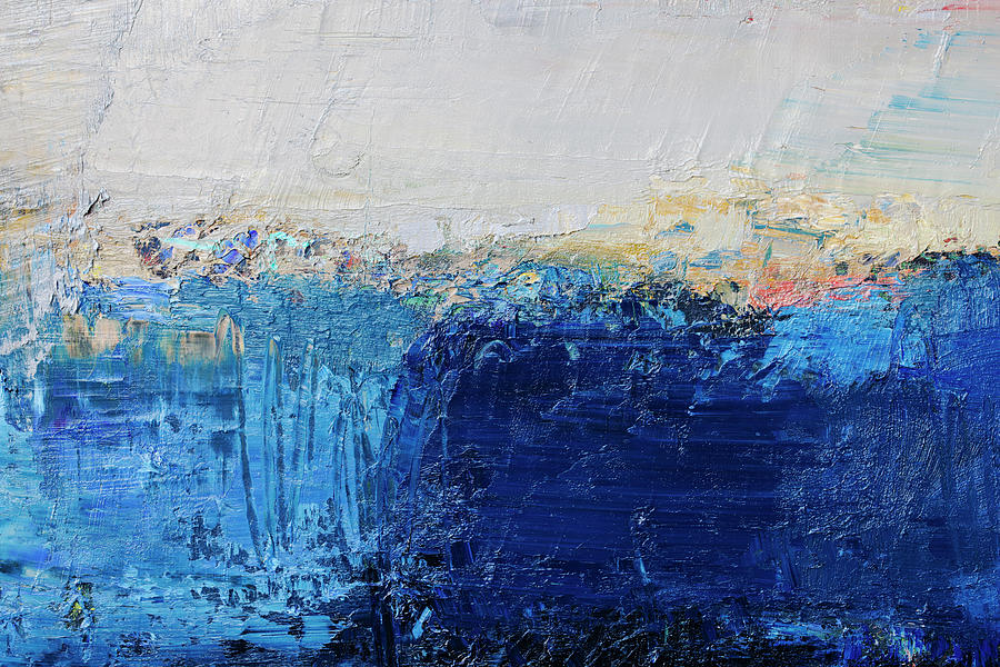 Abstract Painted Blue Art Backgrounds Photograph by Ekely