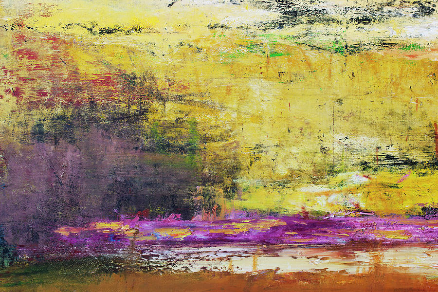 Abstract Painted Yellow Art Backgrounds Photograph by Ekely