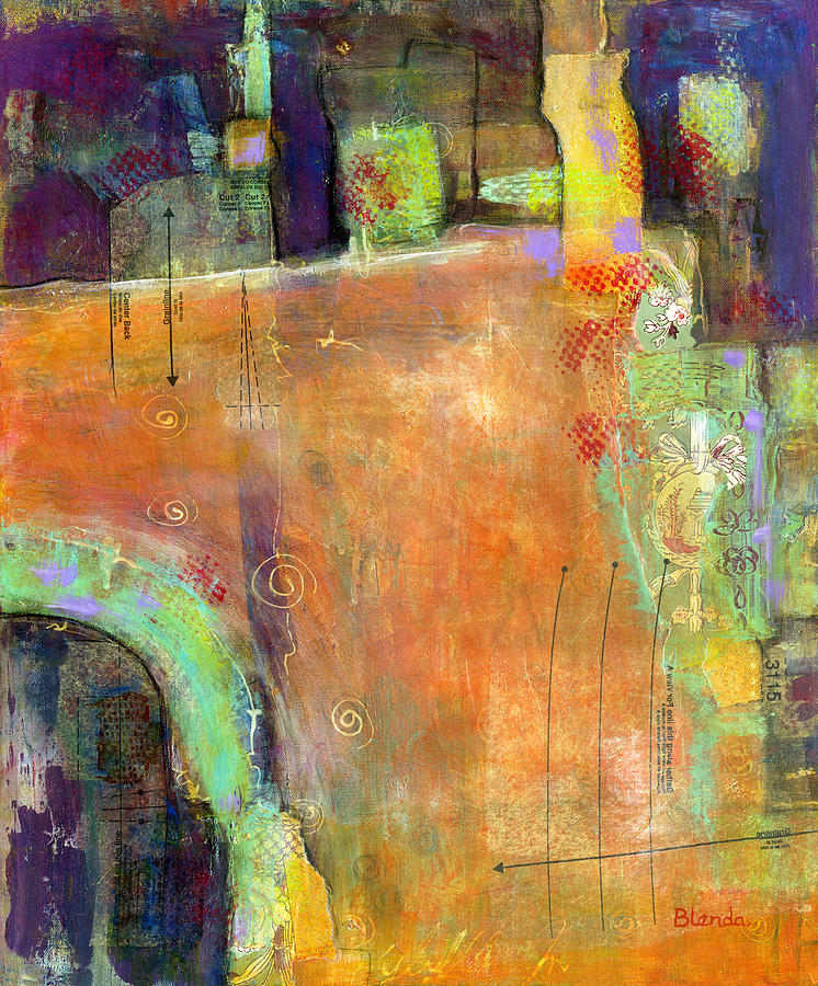 Abstract Painting - Abstract Painting Simple Pleasure by Blenda Studio