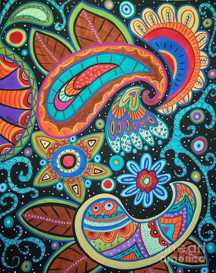 Abstract Paisley Painting By Karla Gerard